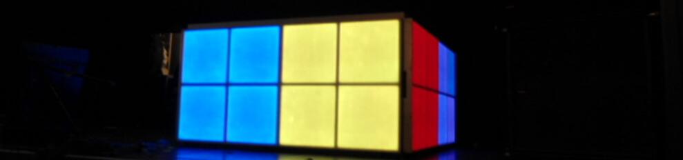 Een LED Booth van Ledlichtvloer Paradiso